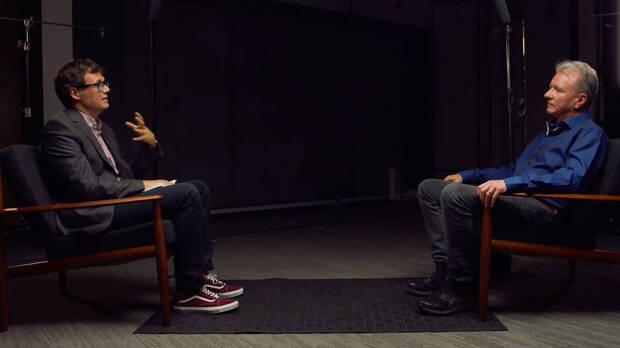 Jim Ryan, jefe de PlayStation, durante una entrevista.