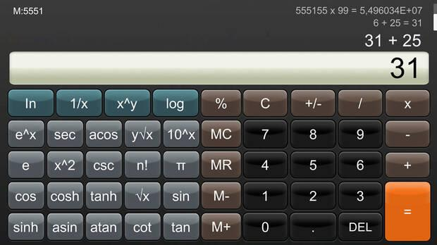 Calculator: Now available a calculator for Nintendo Switch for 9 euros