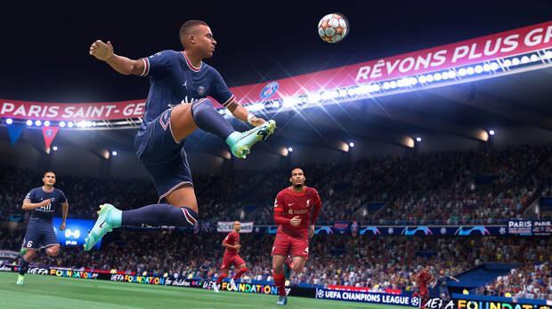 Captura de FIFA 22.
