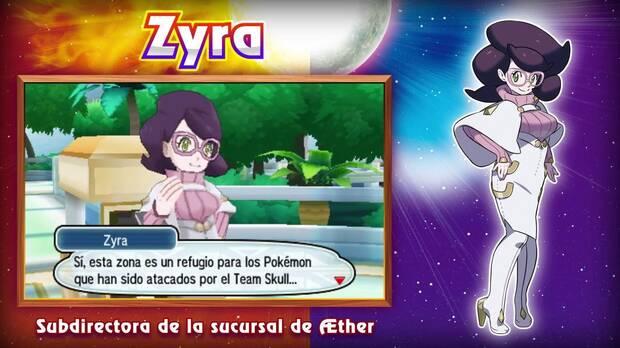 Zyra Fundación Aether Pokémon Sol y Luna