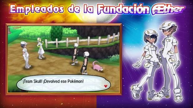 Empleados Fundación Aether Pokémon Sol y Luna