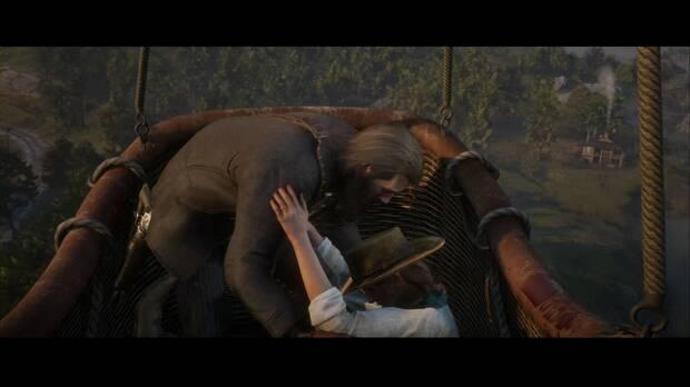 Red Dead Redemption 2 - Ícaro y sus amigos: Arthur sube a Sadie al globo