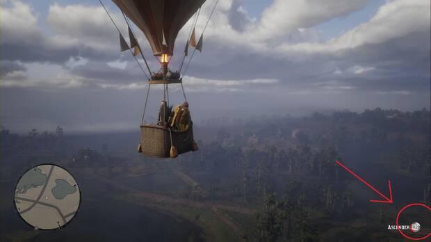 Red Dead Redemption 2 - Ícaro y sus amigos: medidor de altitud