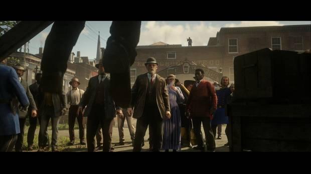 Red Dead Redemption 2 - Adiós, querido amigo: Arthur observa la ejecución