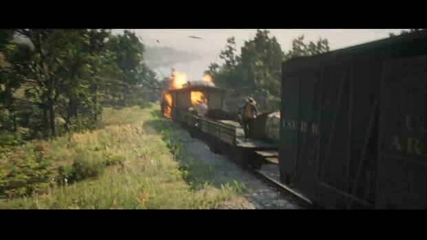 Red Dead Redemption 2 - Nuestra mejor versión: un vagón del tren estalla
