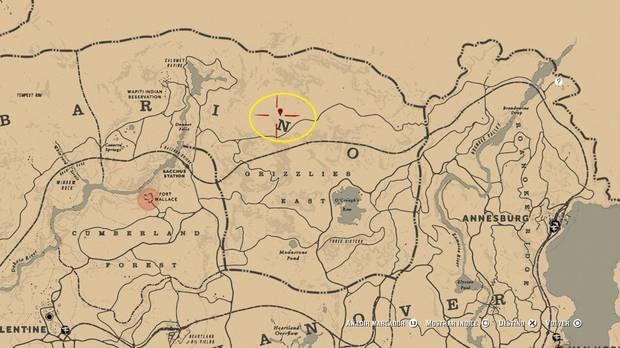 Localización del caldero de las brujas en Red Dead Redemption 2