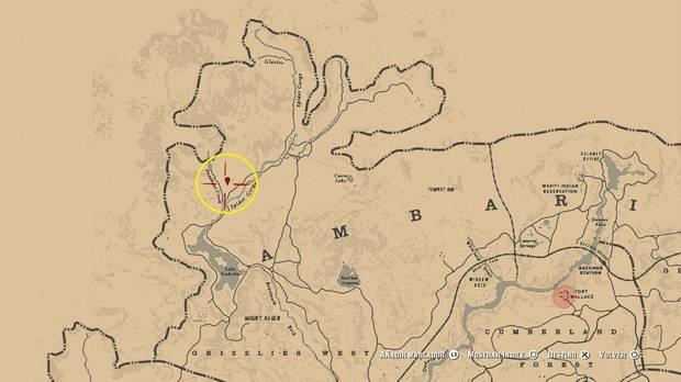 ubicación de los huesos del mamut en Red Dead Redemption 2