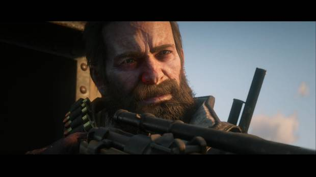 Red Dead Redemption 2 - Arthur apunta con un fusil de francotirador