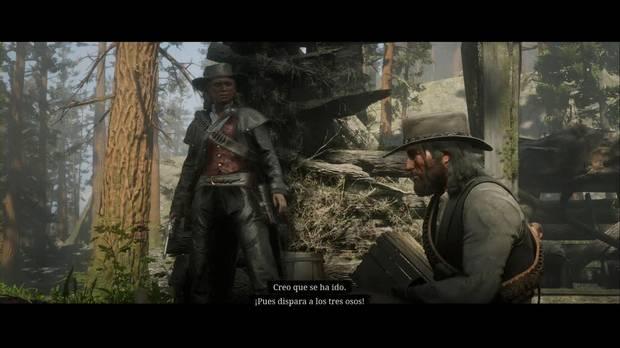 Red Dead Redemption 2 - Un cabronazo realmente grande: Sadie espanta al oso