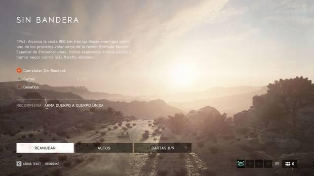 Modo Campaña Battlefield 5