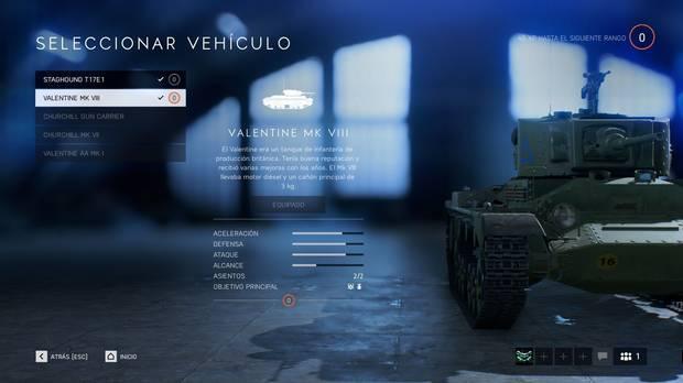 Tanques en Battlefield 5
