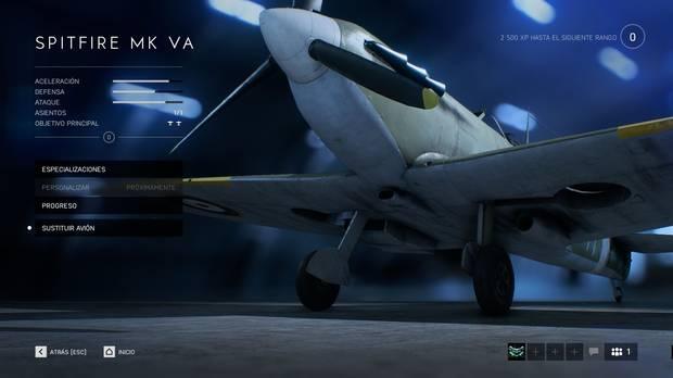 Aviones en Battlefield 5