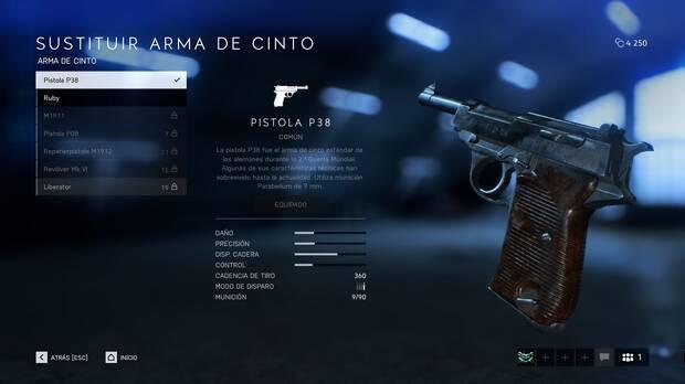 Armas de cinto - Battlefield 5