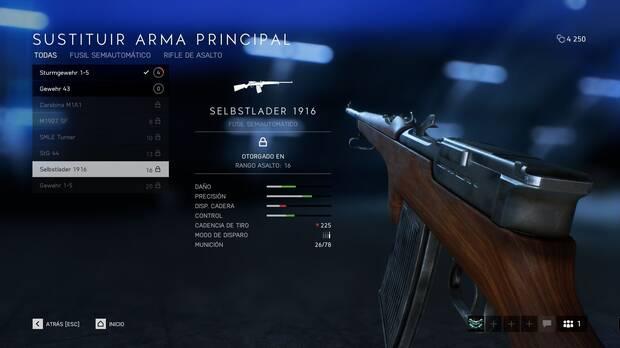 Fusiles semiautomáticos - Battlefield 5