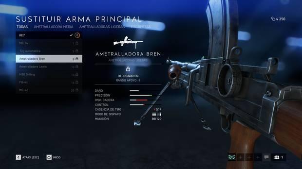 Ametralladoras ligeras - Battlefield 5