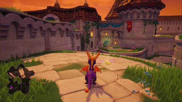 Spyro the Dragon - Plaza mayor: dragón Devlin