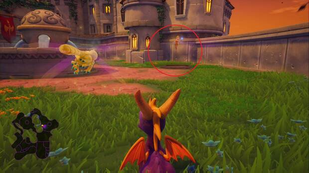 Spyro the Dragon - Plaza mayor: dragón Alvar