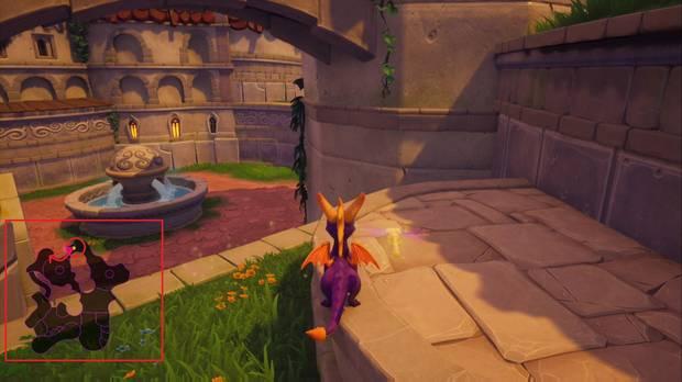 Spyro the Dragon - Plaza mayor: Ladrón de huevos