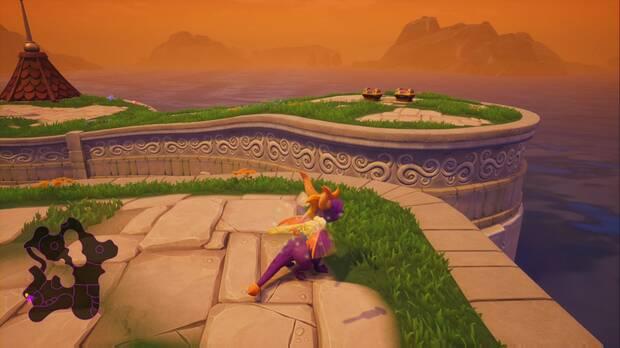 Spyro the Dragon - Plaza mayor: dragón Thor