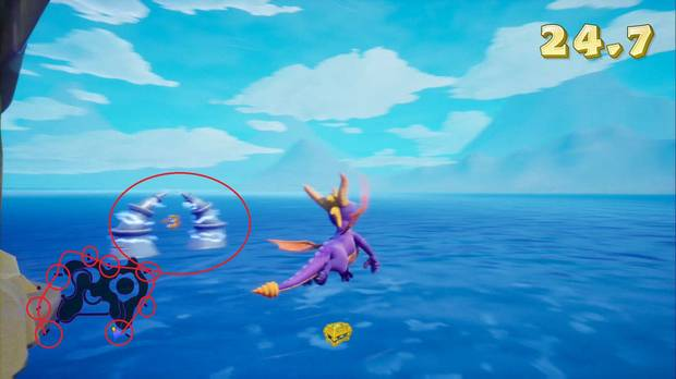 Spyro the dragon: Vuelo Soleado - Arcos
