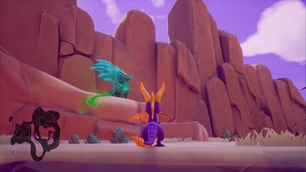 Spyro the Dragon - Cañón árido: estatua de Boris