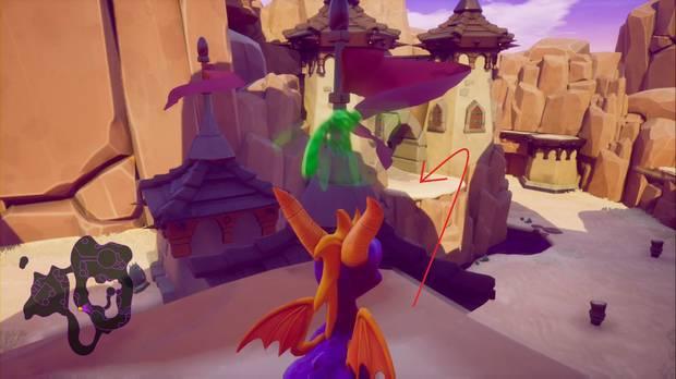 Spyro the dragon - Cañón árido: estatua de Maximos