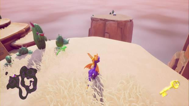Spyro the Dragón - Cañón árido: cofre cerrado