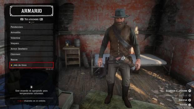 Atuendo Jefe de Finca en Red Dead Redemption 2