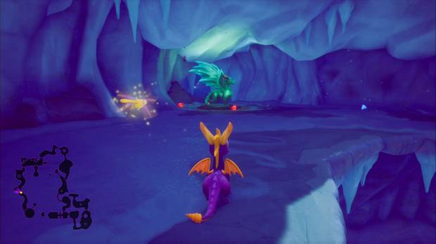 Spyro the Dragon - Cueva de Hielo: estatua de Ulric