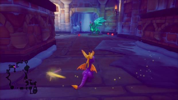 Spyro the Dragon - Cueva de Hielo: estatua de Todor