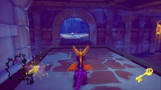 Spyro the dragon - Cueva de Hielo: cofre cerrado