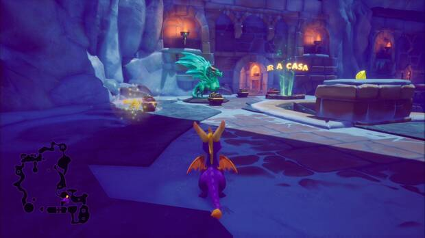 Spyro the dragon - Cueva de Hielo: estatua de Asher