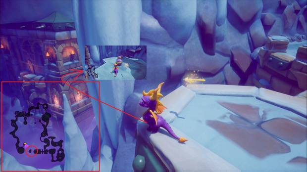 Spyro the Dragon - Cueva de Hielo: vidas secretas
