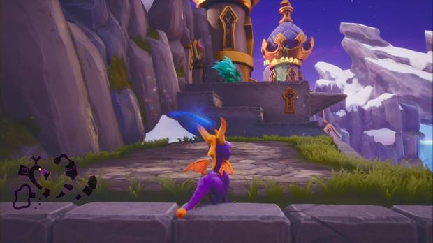 Spyro the dragon - Cresta alpina: estatua de Zander
