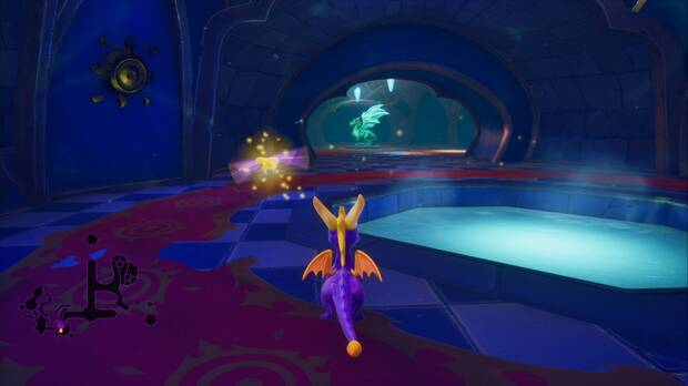 Spyro the dragon - Cumbre de los brujos: estatua de Jarvis