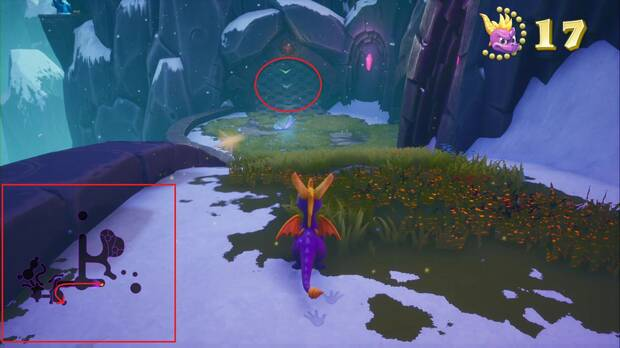 Spyro the dragon - Cumbre de los brujos: gemas ocultas