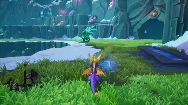 Spyro the dragon - Cumbre de los brujos: estatua de Hexus