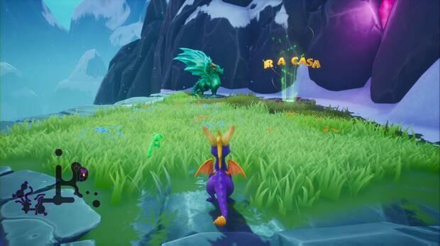 Spyro the dragon - Cumbre de los brujos: estatua de Lucas