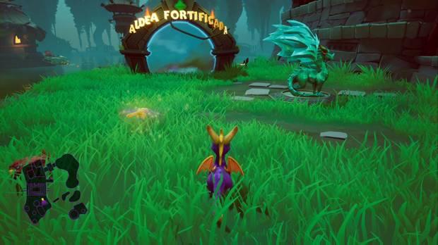 Spyro the dragon - Tierra de los creadores de bestias: estatua de Bruno