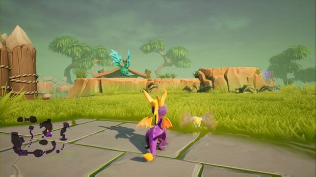 Spyro the dragon - Ciénaga neblinosa: estatua de Rosco