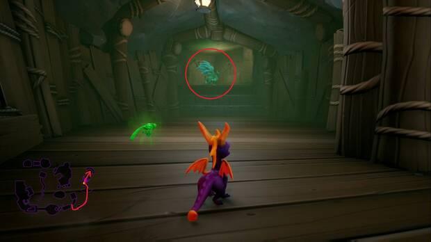 Spyro the dragon - Ciénaga neblinosa: estatua de Damon