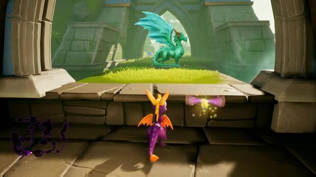 Spyro the dragon - Ciénaga neblinosa: estatua de Zeke