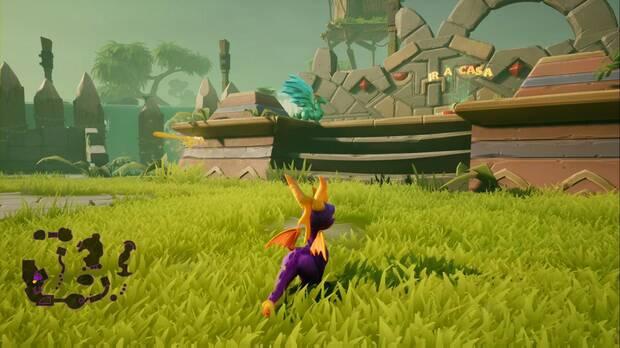 Spyro the dragon - Ciénaga neblinosa: estatua de Bubba