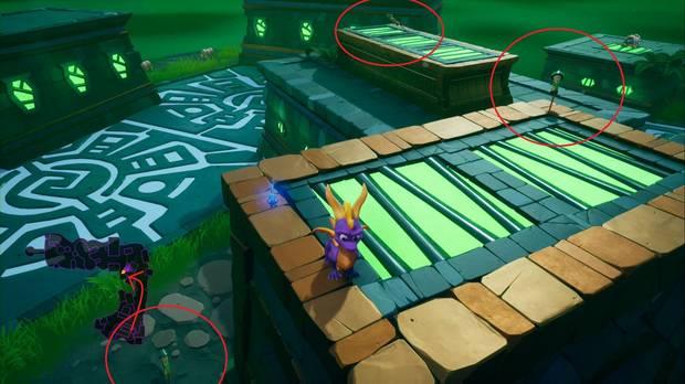 Spyro the dragon - Aldea fortificada: Trofeo Lanzacohetes