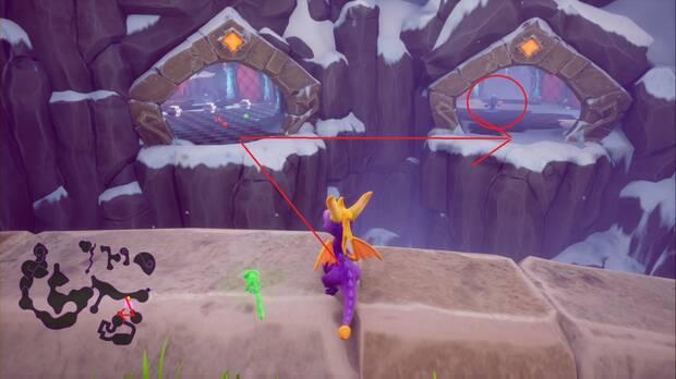 Spyro the dragon - Cuevas elevadas: ladrón de huevos 1