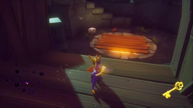 Spyro the dragon - Copas de árboles: localización del cofre cerrado