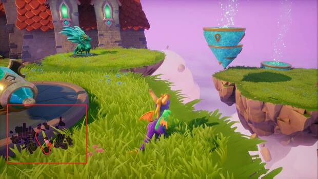Spyro the dragon - Creadores de Sueños: estatua de Zikomo