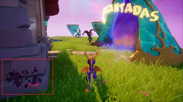 Spyro the dragon - Creadores de sueños: estatua de Mazi