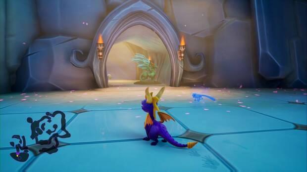 Spyro the dragon - Pasaje oscuro: estatua de Apara