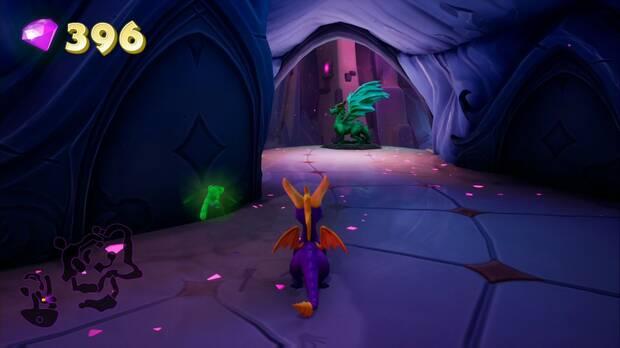 Spyro the dragon - Pasaje oscuro: estatua de Obasi